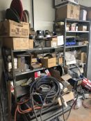 Metal Shelving with Contents 6'Hx7'Wx1.5'D