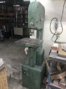 """Powermatic Vertical Bandsaw - Model 141 / SN# 1-345 / 13"""" Throat / 15"""" x 15"""" Tilting Table"""