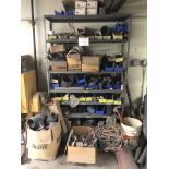 Metal Shelving 6H'x4'Wx1.5'D with Contents