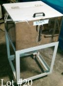 Stainless Material Bin on Portable Stand