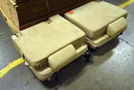 {LOT} Pair of Removable SUV Seats (Leather)