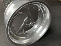 "Polished Aluminum Motorcycle Rim, 19""x9"""