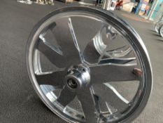 "Chrome Motorcycle Rim, 22""x2-3/4"" Spinner"