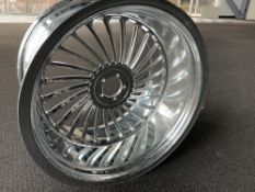 "Chrome Motorcycle Rim, 19""x11"""
