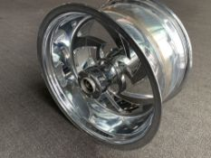 "Custom Chrome Motorcycle Rim, 19""x11"""