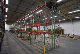 """Group of 36 Sections of Teardrop Style Pallet Racking, 14' x 42"""""""