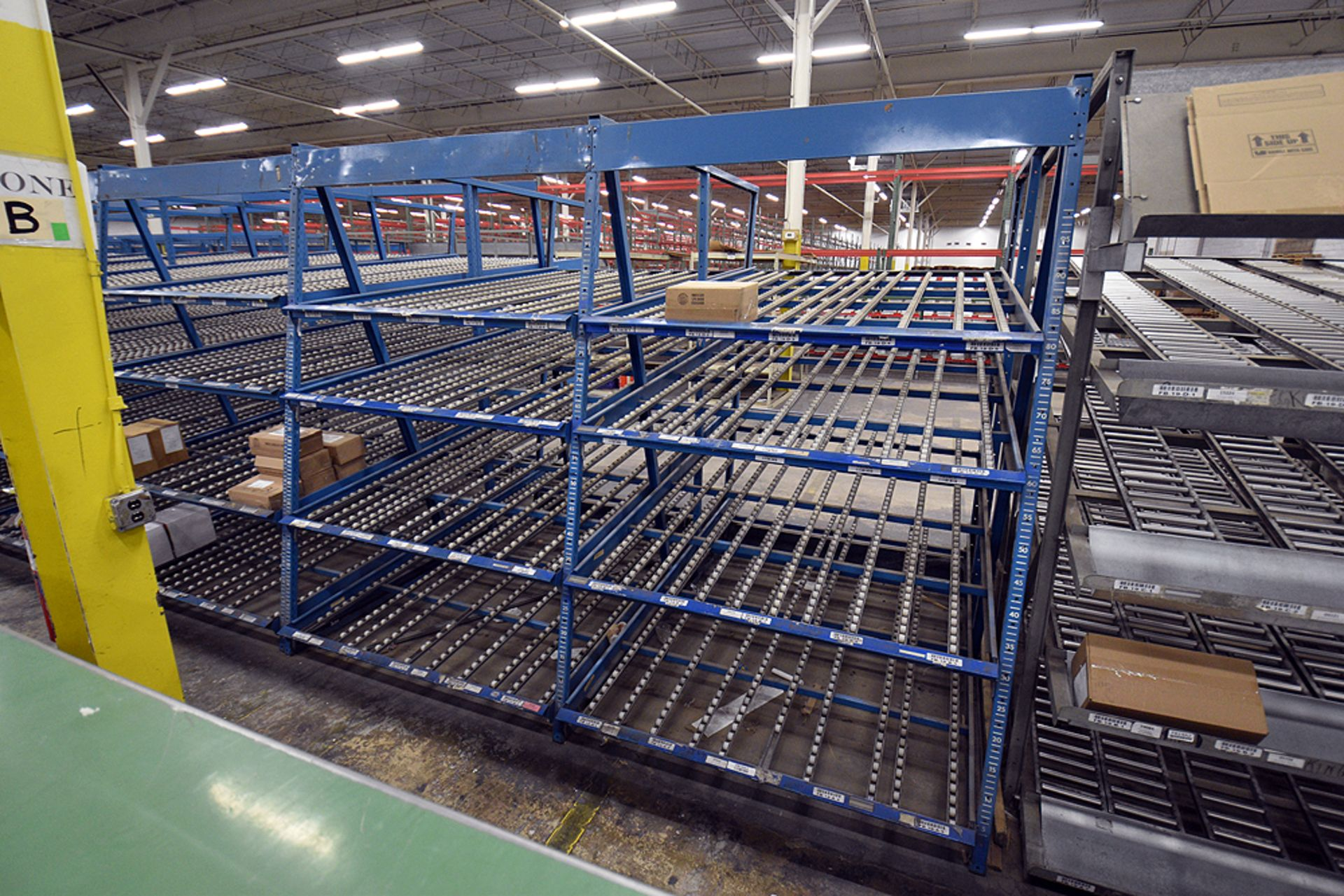 """4-Tier Gravity Fed, Carton Flow Rack (116""""x125""""""""x95""""H) (108""""x1"""" Rollers) - Image 3 of 3"""