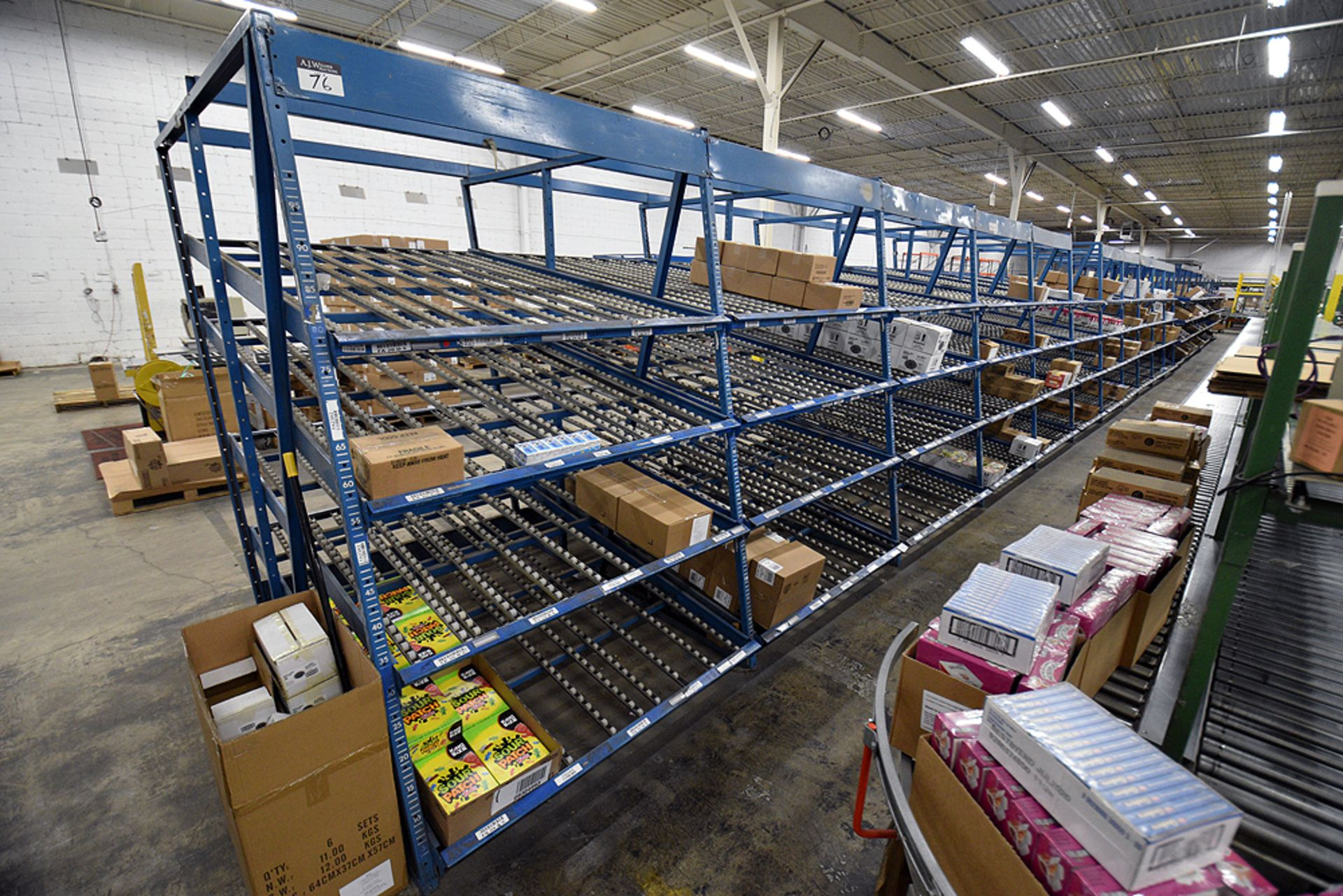 "4-Tier Gravity Fed, Carton Flow Rack (106""x678""x95""H) (108""x1"" Rollers) - Image 5 of 6"