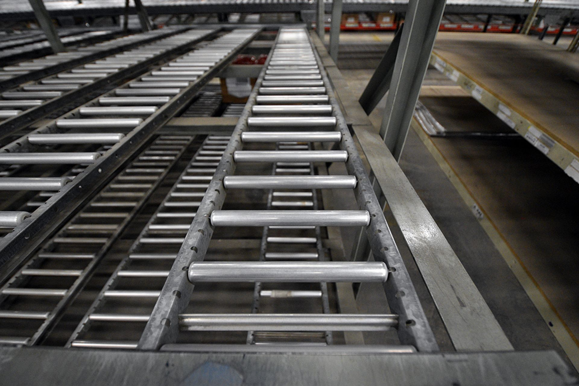 "4-Tier Gravity Fed, Carton Flow Rack (132""x180""x95""H) (108""x1"" and 108""x7"" Rollers) - Image 3 of 4"