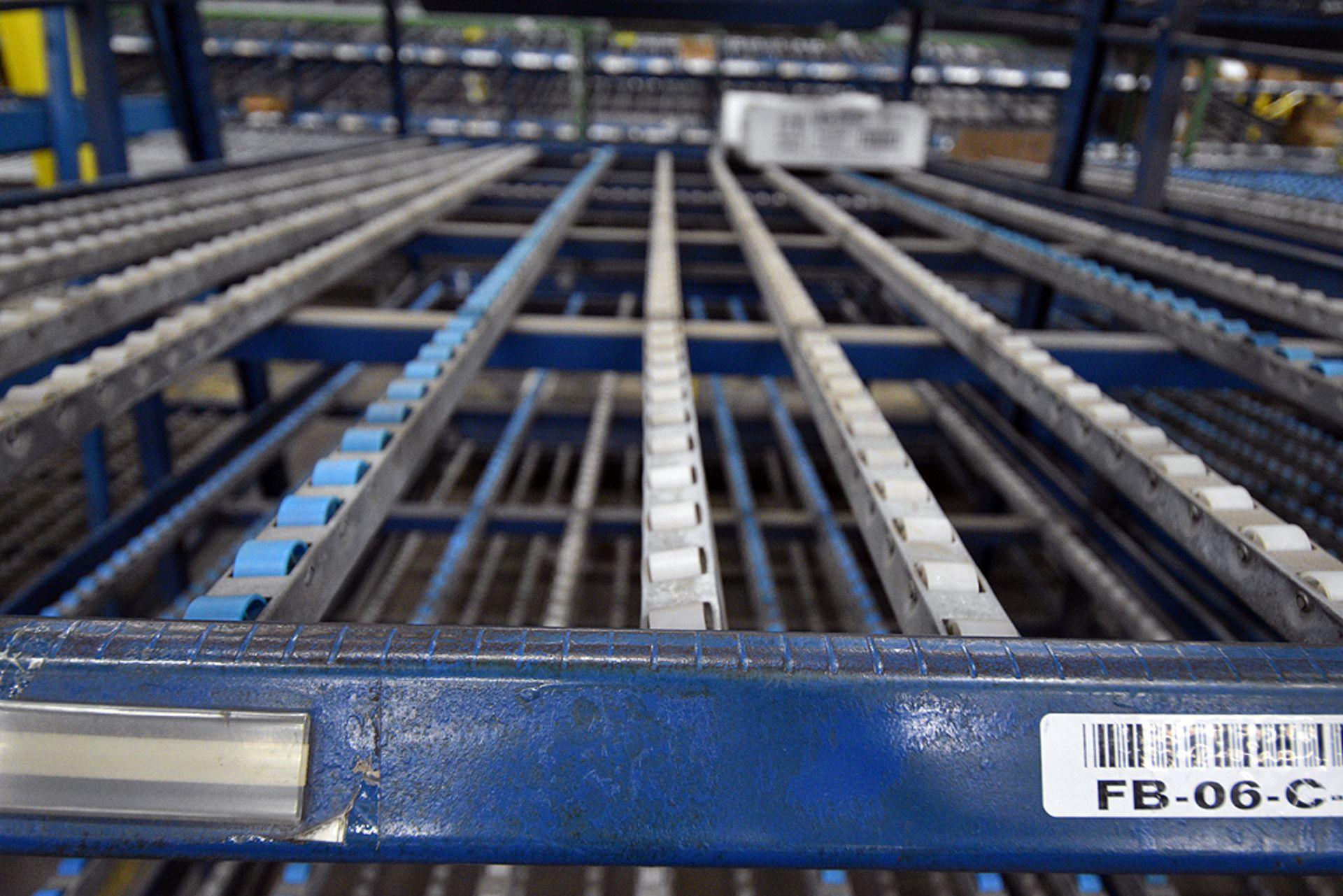 "4-Tier Gravity Fed, Carton Flow Rack (106""x678""x95""H) (108""x1"" Rollers) - Image 3 of 6"