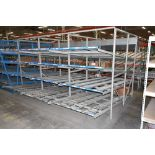 """4-Tier Gravity Fed, Carton Flow Rack (132""""x180""""x95""""H) (108""""x1"""" and 108""""x7"""" Rollers)"""