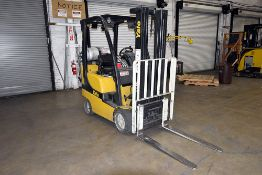 """Yale 3,500 lbs. Capacity, LPG Forklift w/ 187"""" Lift Height, Indoor Solid Tires & Side Shift"""