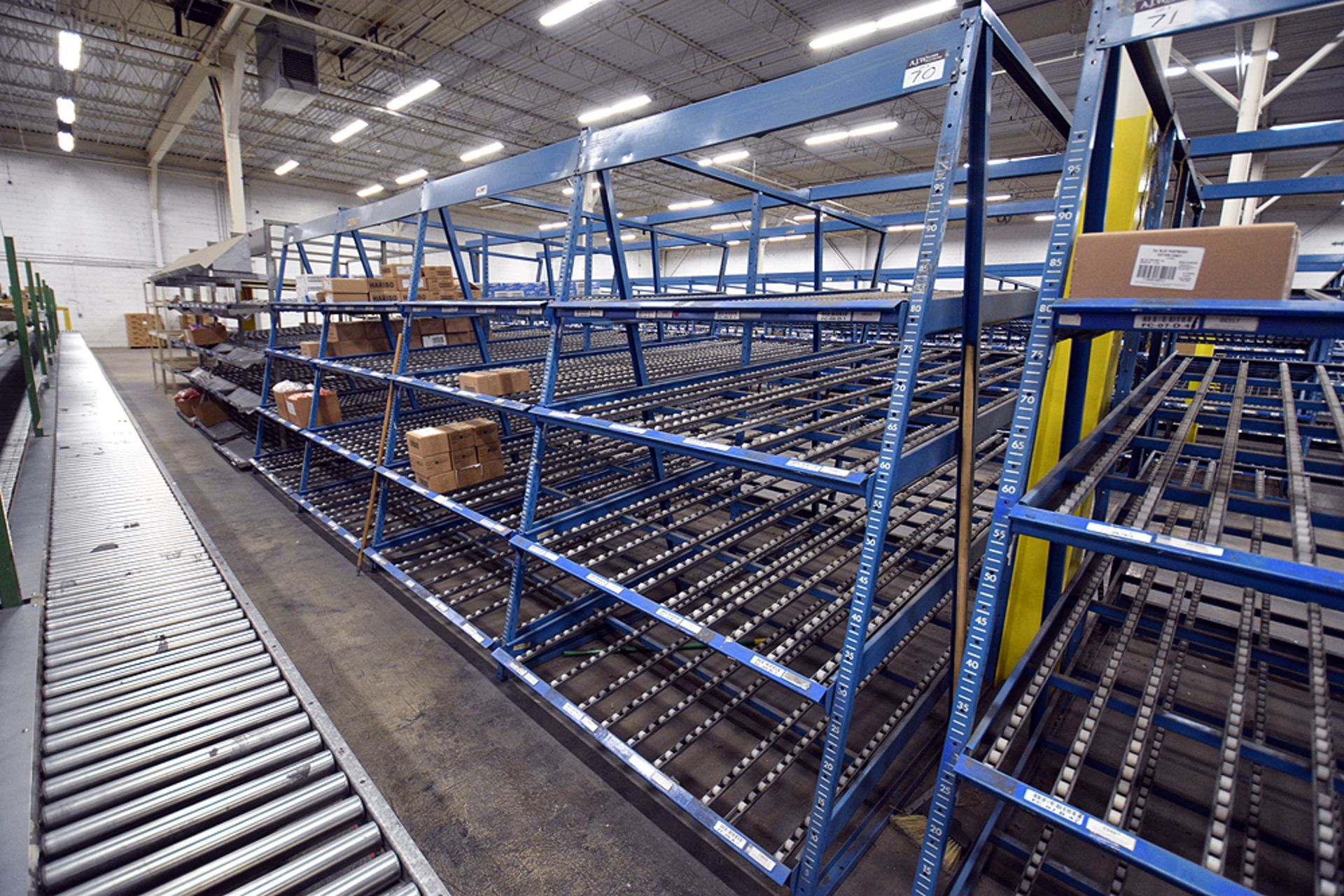 """4-Tier Gravity Fed, Carton Flow Rack (124""""x249""""x95""""H) (108""""x1"""" Rollers) - Image 3 of 3"""
