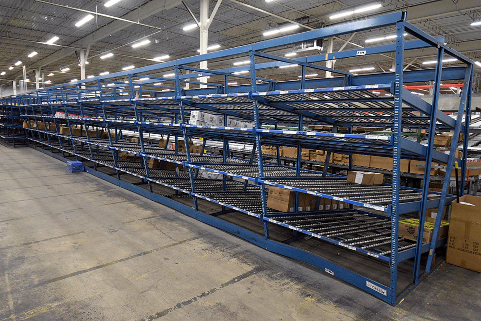 "4-Tier Gravity Fed, Carton Flow Rack (106""x678""x95""H) (108""x1"" Rollers) - Image 4 of 6"