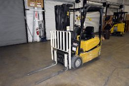 """Yale 3,500 lbs. Capacity, 3-Wheel Electric Forklift w/ 187"""" Lift Height & Side Shift"""