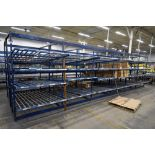 "4-Tier Gravity Fed, Carton Flow Rack (106""x678""x95""H) (108""x1"" Rollers)"