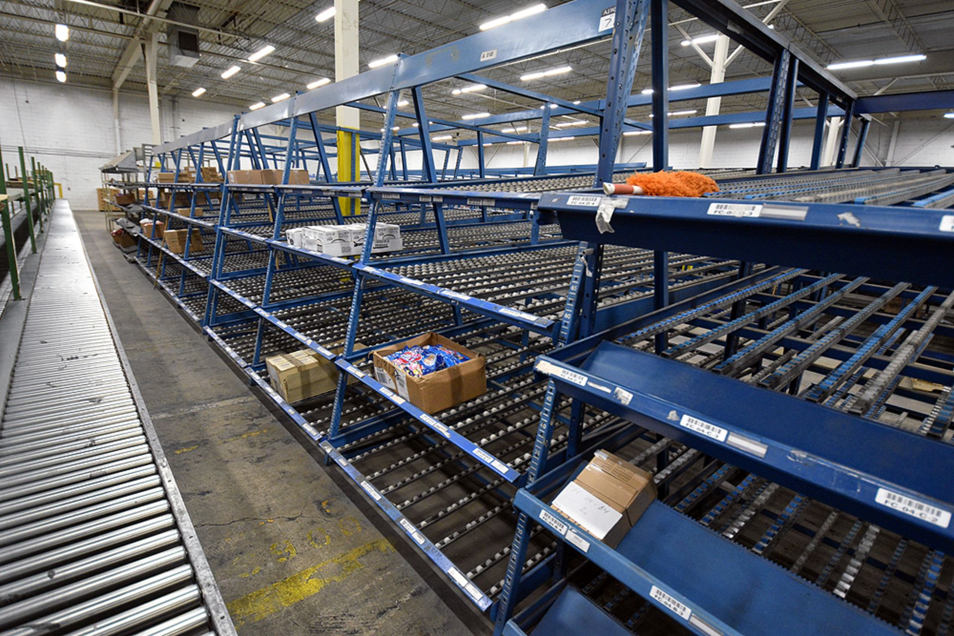 """4-Tier Gravity Fed, Carton Flow Rack (124""""x187""""x95""""H) (108""""x1"""" Rollers) - Image 4 of 4"""