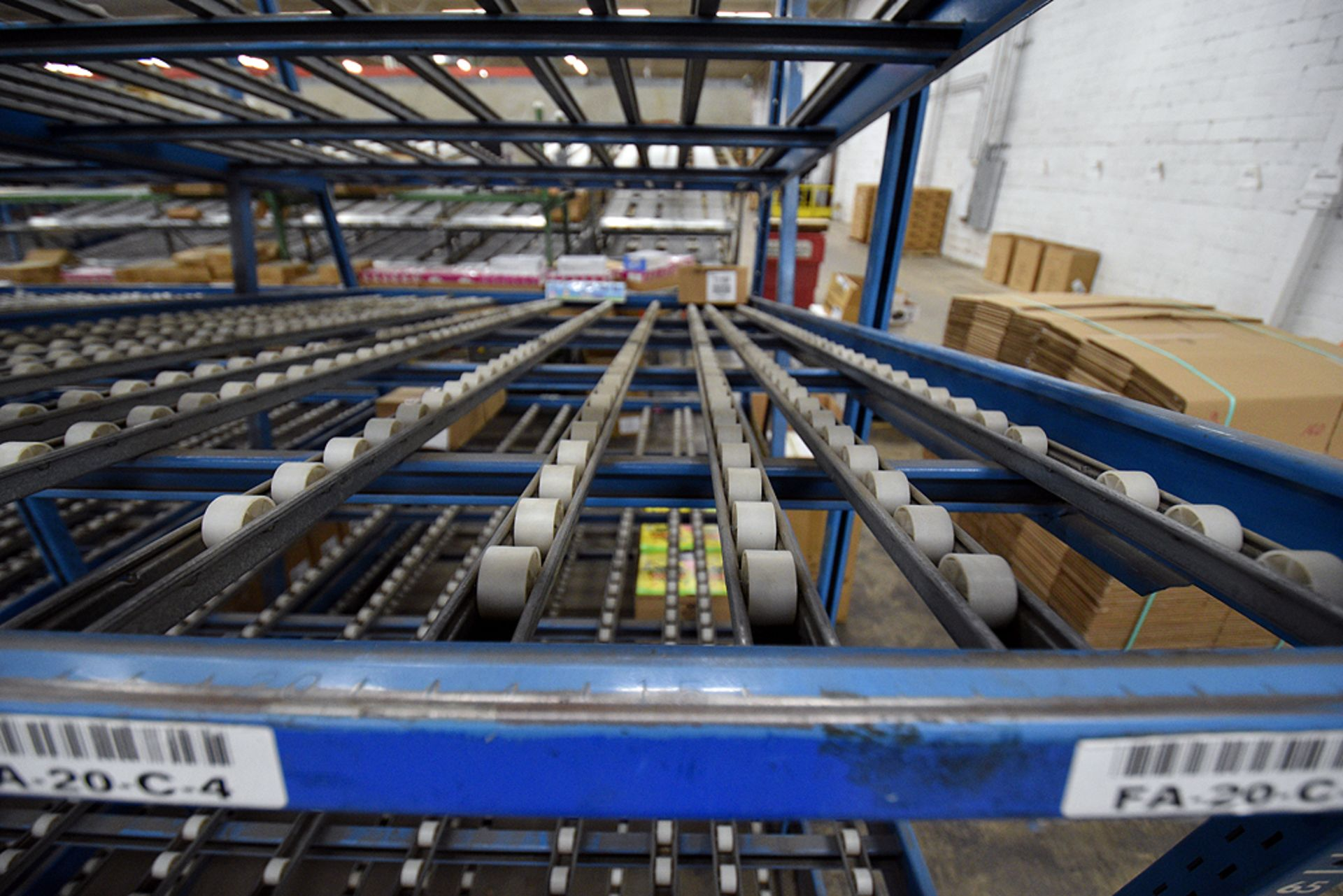 "4-Tier Gravity Fed, Carton Flow Rack (106""x678""x95""H) (108""x1"" Rollers) - Image 6 of 6"