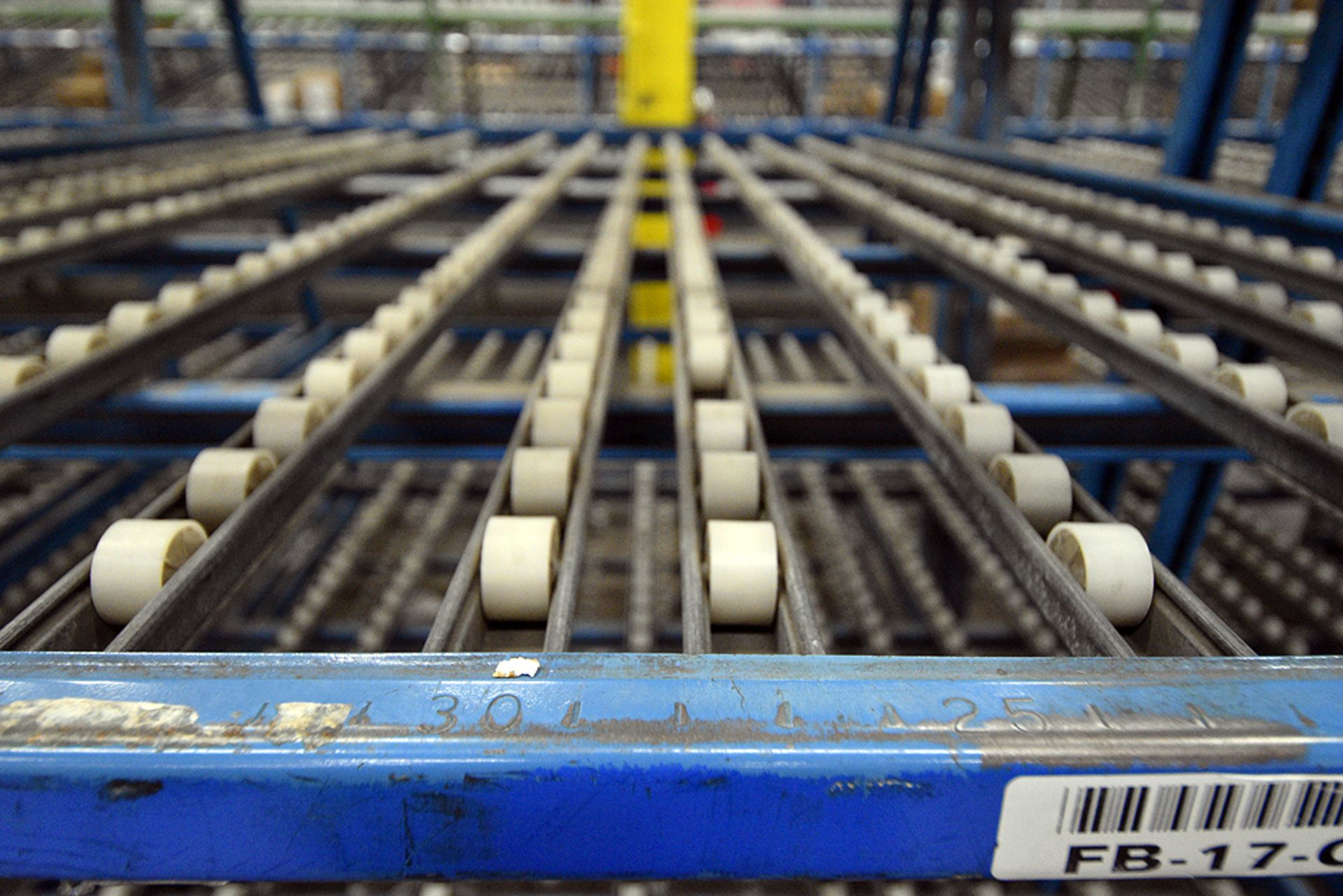 """4-Tier Gravity Fed, Carton Flow Rack (116""""x125""""""""x95""""H) (108""""x1"""" Rollers) - Image 2 of 3"""