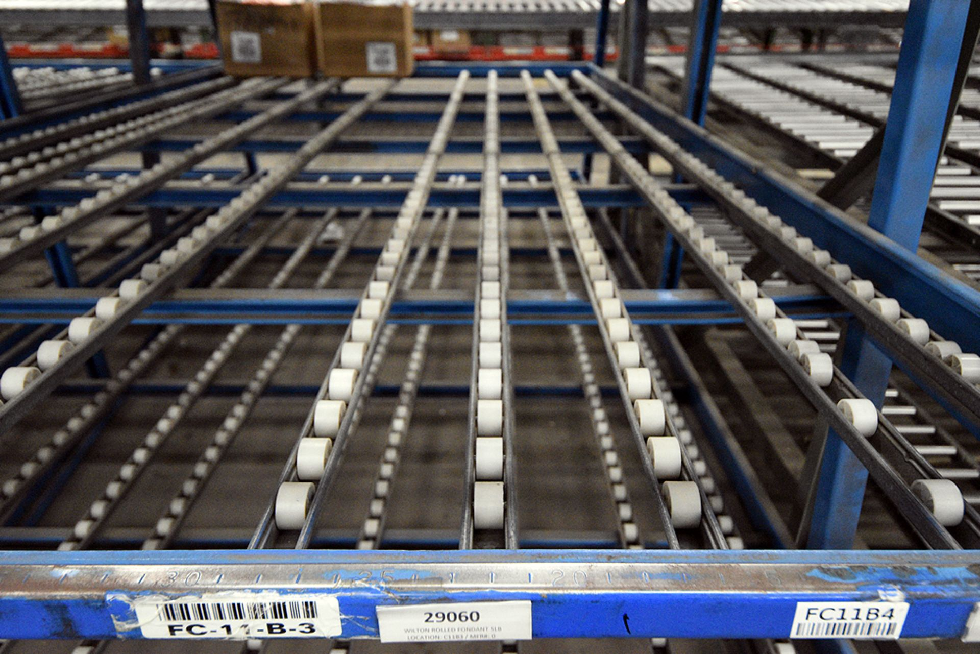 """4-Tier Gravity Fed, Carton Flow Rack (124""""x249""""x95""""H) (108""""x1"""" Rollers) - Image 2 of 3"""