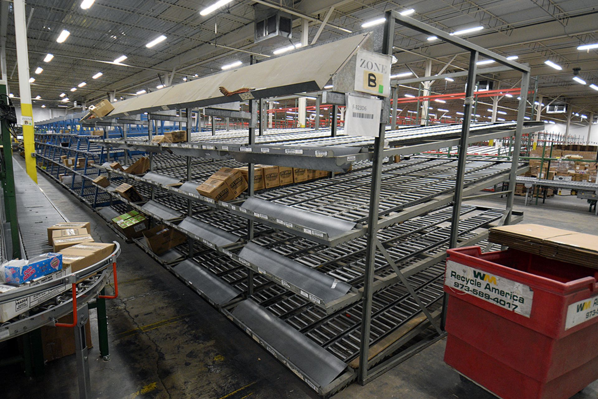 """4-Tier Gravity Fed, Carton Flow Rack (132""""x300""""x95""""H) (108""""x7"""" Rollers) - Image 4 of 4"""