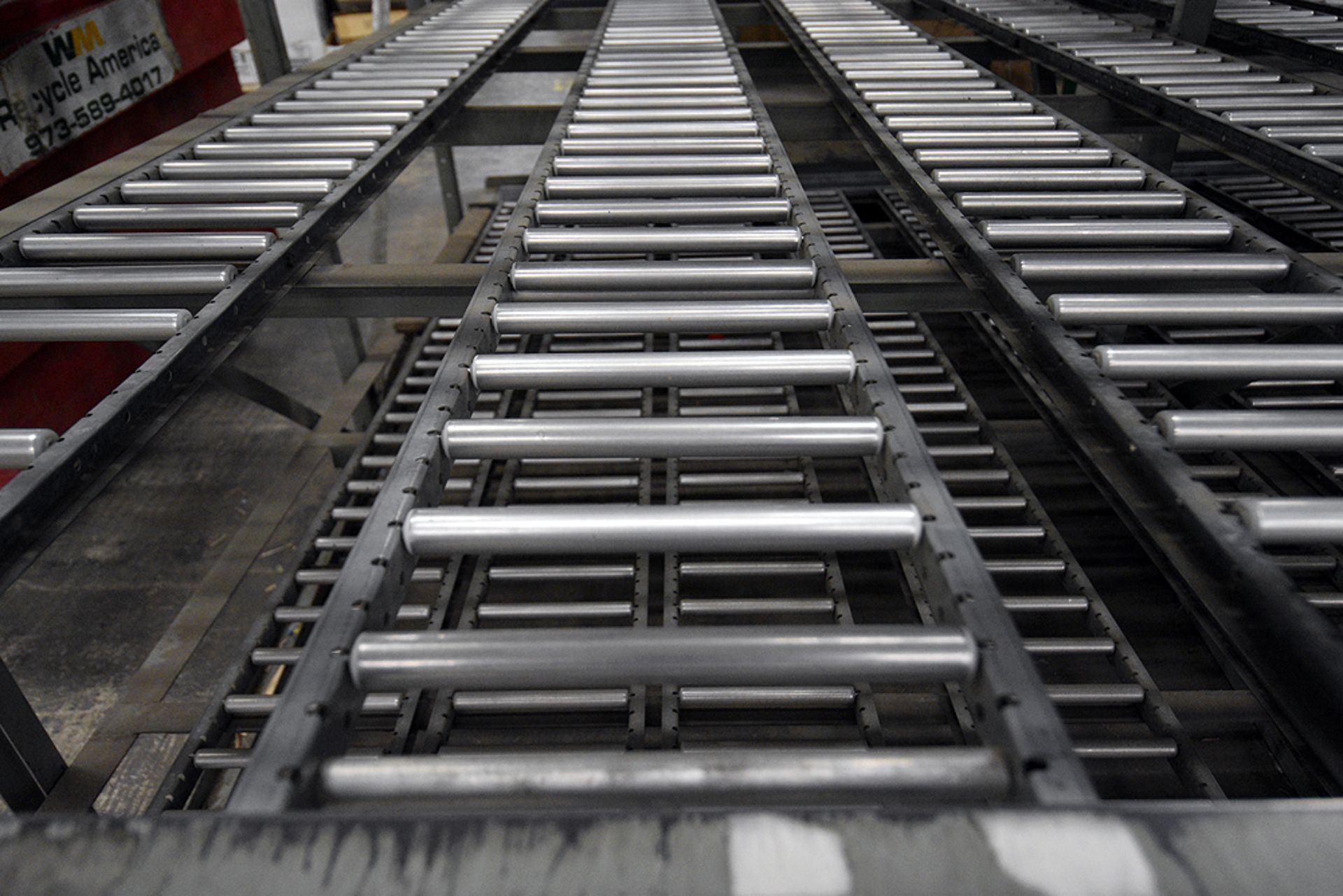"""4-Tier Gravity Fed, Carton Flow Rack (132""""x300""""x95""""H) (108""""x7"""" Rollers) - Image 3 of 4"""