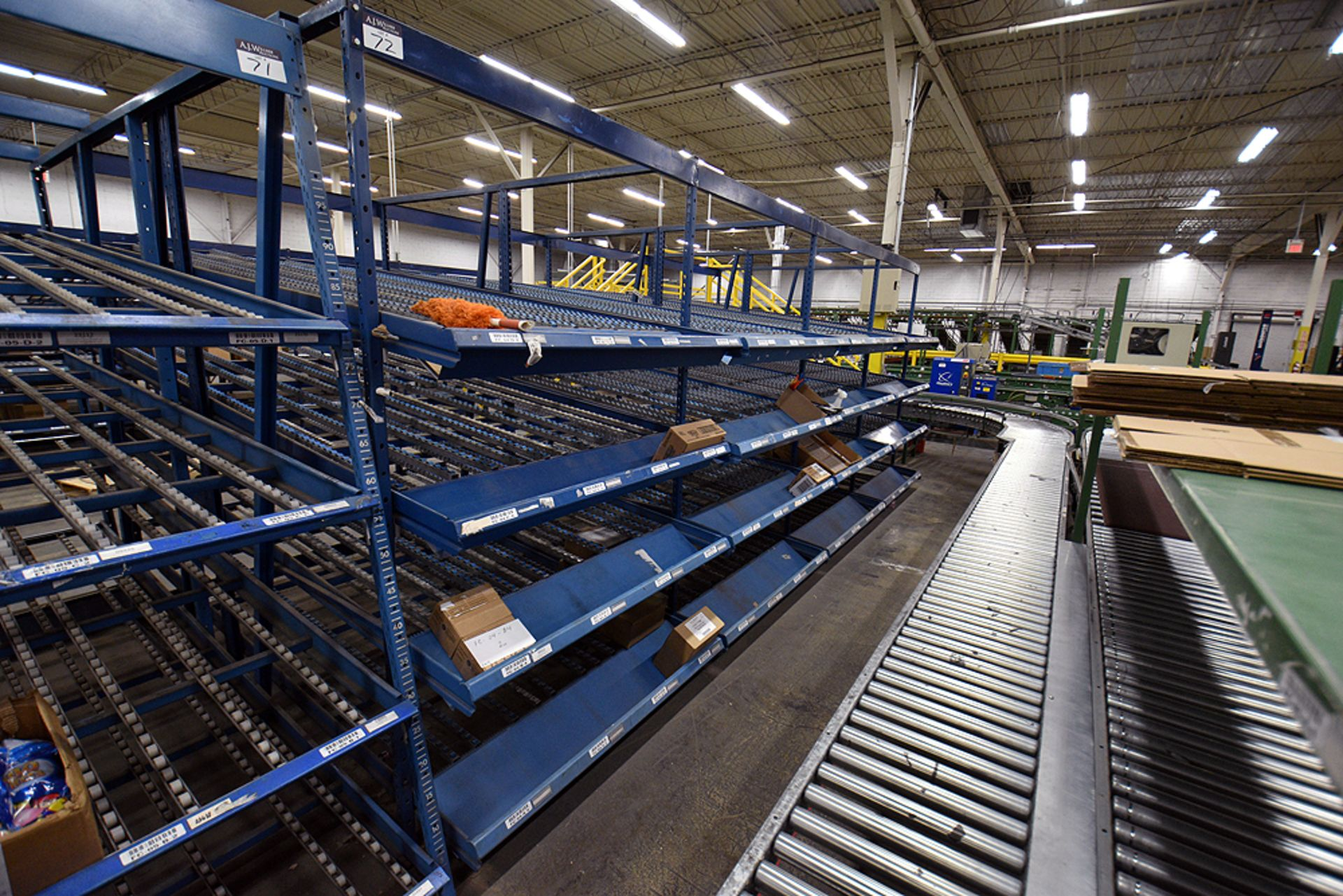 """4-Tier Gravity Fed, Carton Flow Rack (124""""x238""""x95""""H) (108""""x1"""" Rollers) - Image 3 of 3"""