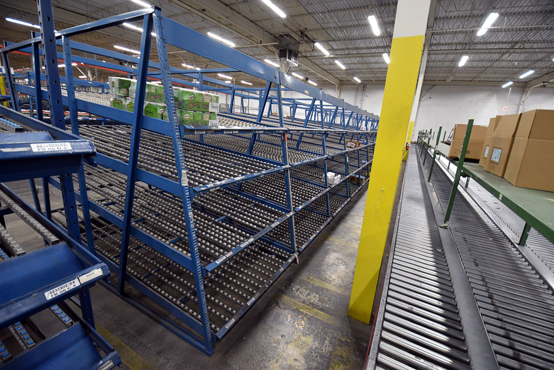 """4-Tier Gravity Fed, Carton Flow Rack (116""""x624""""x95""""H) (108""""x1"""" Rollers) - Image 4 of 4"""