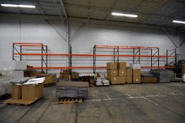 """Group of 7 Sections of Teardrop Style Pallet Racking, 12' x 42"""""""