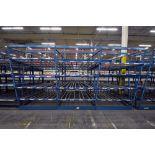 "4-Tier Gravity Fed, Carton Flow Rack (124""x187""x95""H) (108""x1"" Rollers)"