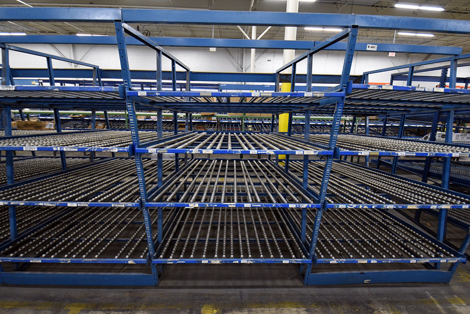 """4-Tier Gravity Fed, Carton Flow Rack (116""""x624""""x95""""H) (108""""x1"""" Rollers) - Image 2 of 4"""