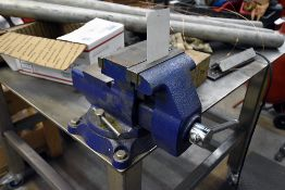 """Wilton 4500 5 1/2"""" Benchtop Vise w/Stainless Steel Work Table (48""""L. x 48 W. x 38"""" H.) w/Contents"""