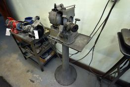 Black Diamond Precision Drill Grinder, Machine Number: 6809, 110v, Single Phase, 1/2hp w/ Stand