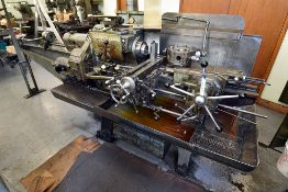 Warner Swasey Model No. M1200, s/n 499669 w/6-Shelf Metal Cabinet & Tooling