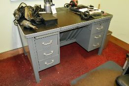 Furniture Throughout Room: (2) Desks, (3) File Cabinets, (2) Chairs & Cork Board