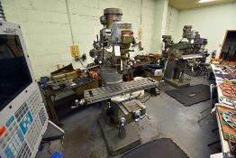 """Bridgeport Serial Number: 12BR211773 Series 1, 2hp, Vertical Milling Machine w/42"""" Table w/ Servo"""