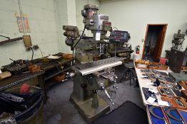 Bridgeport Series 1, 2HP, Vertical Milling Machine w/ Accu-Rite3 DRO & Accu-Rite 5 Length Gauge