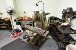 """Milwaukee Model H Serial Number: 4-2086, Number 2 Plain Milling Machine (49.5"""" Table)"""