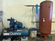 QUINCY 100 GAL. 5 HP COMPRESSOR WITH DRIER