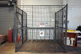 STEEL 3 SIDED SECURITY CAGE WITH DOOR