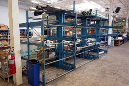 STEEL STORAGE SYSTEMS, ROLL-OUT SPACESAVER CANTILEVER RACK