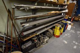 Group of Stainless Steel Stock On & Under 2 Cantilever Racks