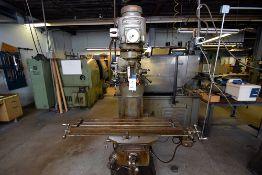 Bridgeport Vertical Milling Machine, 1-1/2 HP