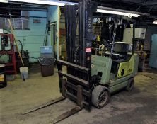 Clark GCX25, 5,000 lbs. Capacity, LPG Forklift, 3-Stage Mast, 2,963 Hours