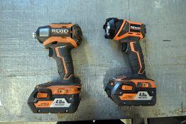 Ridgid Impact Drill and Flashlight
