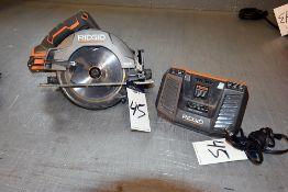 Ridgid Circular Saw & Battery