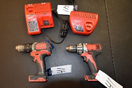 {LOT} A Group of Ass't Milwaukee Drills & Chargers