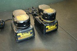 DeWalt Chargers w/ Batteries