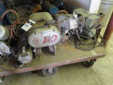 CM 2 Ton Electric Hoist and P & H 1/2 Ton Electric Hoist