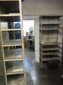 Shelves (8) and File Cabinet (SOLD AS-IS - NO WARRANTY)